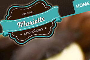Mariette Chocolates web design